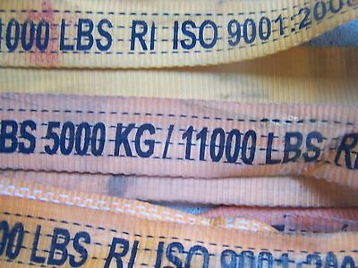 (10) Lifting Straps Sling  5000 Kg 11000 Lbs Lifting Capacity Iso 9001