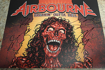 Airbourne photo signed (8by10) all members