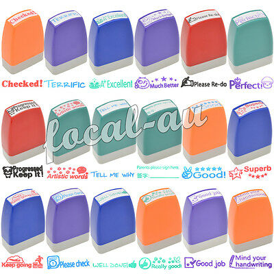 Cute Teacher Stamp Self Inking Student Praise Reward Stamp Personalized Gift New