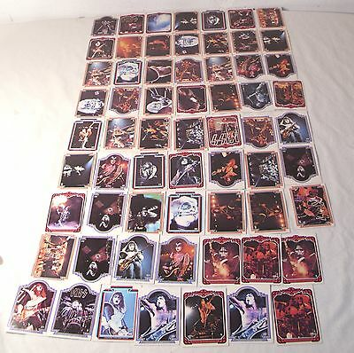 Kiss The Rock Group Trading Card Lot Of 63 Cards