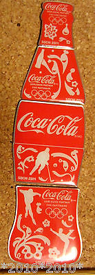 2014 Sochi Olympic games..CocaCola bottle 4 pices pin