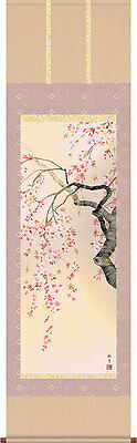 japanese hanging scroll   Title :Cherry tree  new