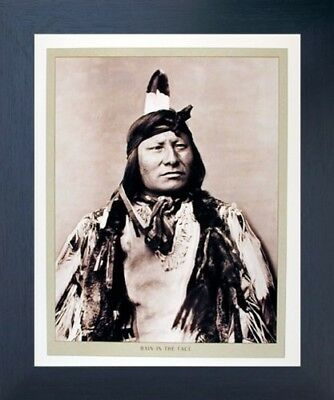Rain In The Face Indian Chief Native American Wall Decor Espresso