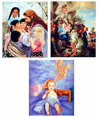 N-371 Jesus Christ Vintage Religious Portrait Hot Wall Poster Art 20x30 24x36IN