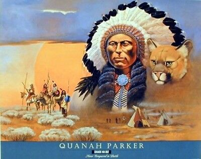 Native American Indian Comanche Chief Quanah Parker Home Decor Art Print (16x20)