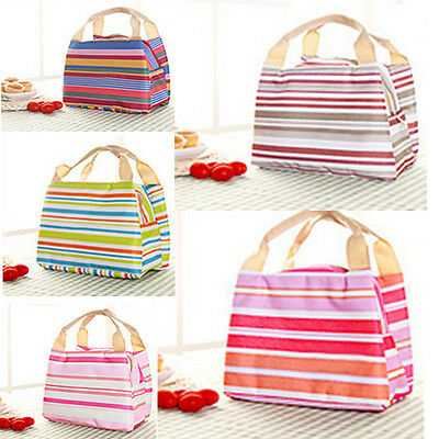 Small Insulated Cooler Picnic Thermal Portable Lunch Carry Tote Storage Bag
