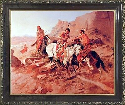 NATIVE AMERICAN INDIAN Russell (The Scout) Horses Wall Decor Art ...