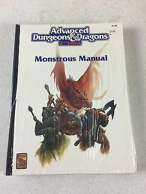 1993 Advanved Dungeons & Dragons 2nd Ed Monstrous Manual 2140 TSR NOS - Estate