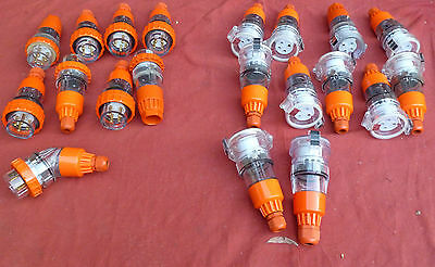 10 Amp 3 Phase Plugs (4 Pin Plugs Male and Female)