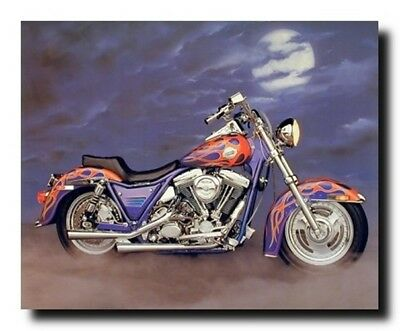 16x20 Vintage Harley Davidson Black Motorcycle Wall Decor Art Print Poster
