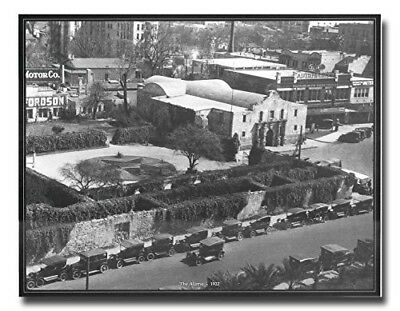 1922 photo Aerial view of Alamo Vintage Old City Black and White Art Print 16x20