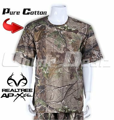 Size L Realtree Camo Hunting Tee Shirt Camouflage Fishing Archery Army Short T