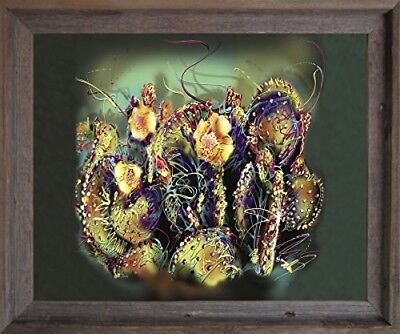 Kristi Jorgensen Tulips Flower Contemporary Painting Wall Decor Framed Picture