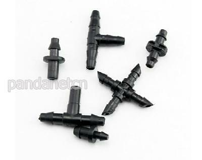 """NWEAgricultural Garden Irrigation 1/4"""" Barb Drip CROSS Connector Fittings 10PCS"""