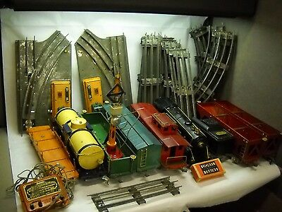 AMERICAN FLYER 1930s Train Set TRACKS 7 VARIOUS Cars 1 LOCOMOTIVE Switches OTHER