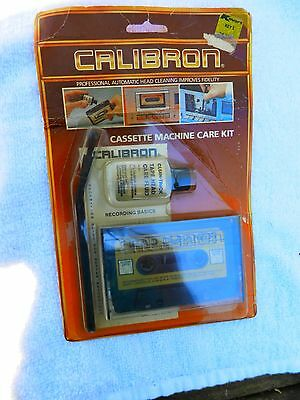 Vintage Calibron Cassette machine Care Cleaning Kit/head cleaner. New old school