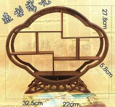 Exquisite Chinese Wood Stand/shelf For Netsuke/snuff Bottles Curios Cq50169