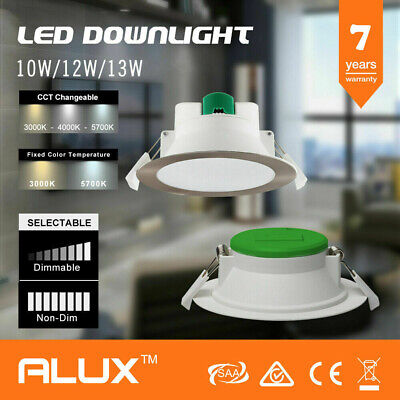 Satin Chrome &White 10W 12W 16W Led Downlight Kit Warm/ Day Light Dim &Non Dim