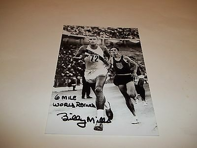 Olympic Gold Medal Runner Billy Mills Signed 4X6 Photo   1A