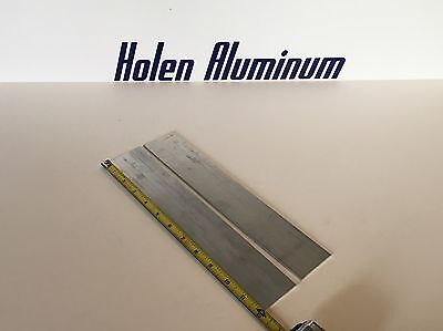 "1/8"" X 2"" X 12"" Long Aluminum Flat Bar Stock 6061-T6 (2 Pieces)"
