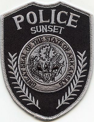 Sunset Arkansas Ar Police Patch