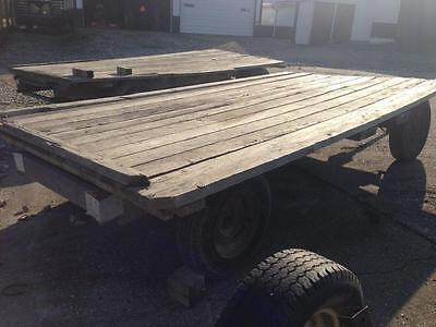 Hay Wagon 14' x 7.5' with Running Gears             Hay Straw Wagon Flatbed
