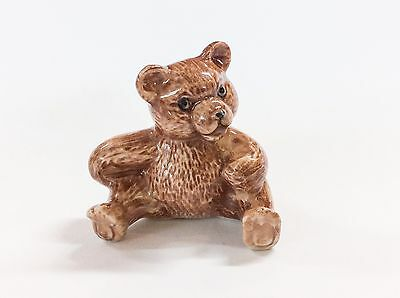 Ceramic Teddy Bear Hand Painted Miniature Collectible Figurine