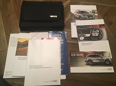 2015 Audi Q5/SQ5 Owners Manual, Great Cond, Complete **W/Free Shipping**