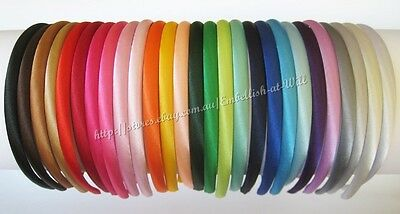 Plain SATIN HEADBAND Alice Band Hair Band Resin DIY Girls School Women Accessory
