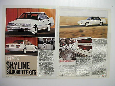 Nissan Skyline Silhouette Gts Series 1 2 Page Magazine Preview Article