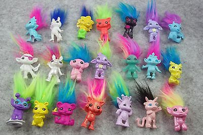 Random 5pcs/lot Lil ZELFS mini Luckey Trolls Dolls Figures Collection 1""