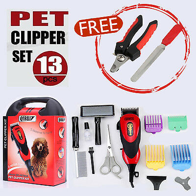 Pro Electric Dog Pet Clipper Kit Hair Grooming Trimmer AU
