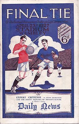 1927 FA CUP FINAL ARSENAL v CARDIFF CITY (ORIGINAL PROGRAMME VGC)