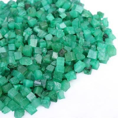 201.007 ct Natural colomnian Mines Eemerald Rough Small Cube gemstone lot