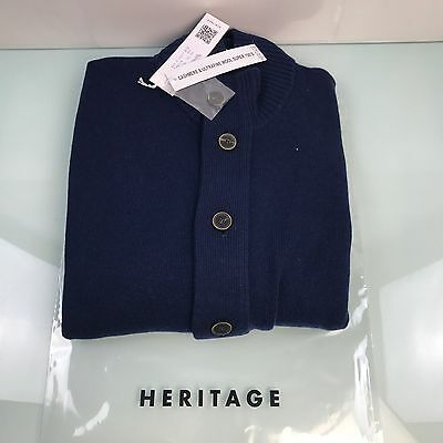 Maglia Cardigan Heritage Uomo Cashmere & Ultrafine Wool 150s 100% Made In Italy