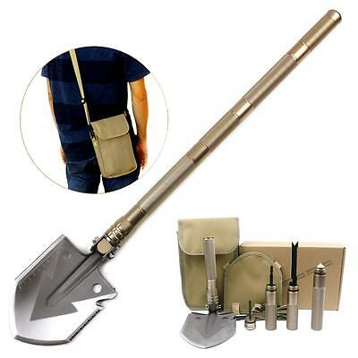 Survival Shovel Kit with Multi Tools Compass Saw Screwdriver Cone for Camping