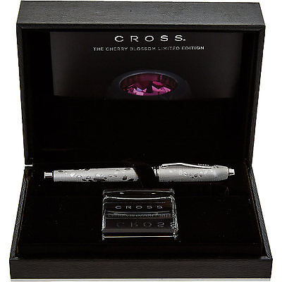 CROSS Limited Edition Platinum Tone Cherry Blossom Pen NEW RRP £750.00!Reduced!