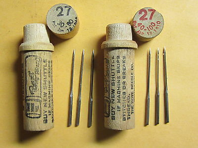 Wheeler & Wilson #6, 7, 8, Early 9 / 126x1 / Sewing Machine Needles / 2 Tubes
