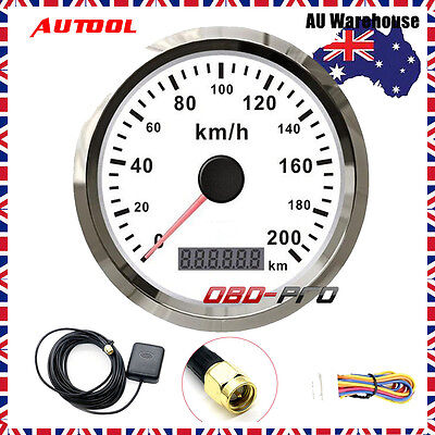 200km/h Auto GPS Speedometer Stainless waterproof Gauges for 12V/24V Car Truck