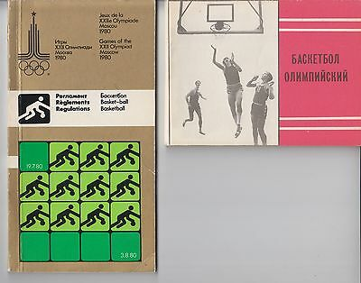 Rare basketball programme & regulations Olympic Games 1980 Moscow 80 USSR