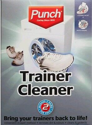Punch Trainer Washing Machine Cleaner Sports Shoes Washes X2 Pairs with Net Bag