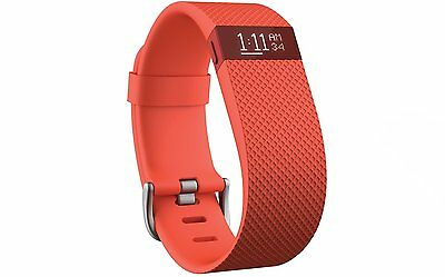 FitBit Charge HR Monitor Wireless Activity Tracker Wristband - Tangerine - S/L