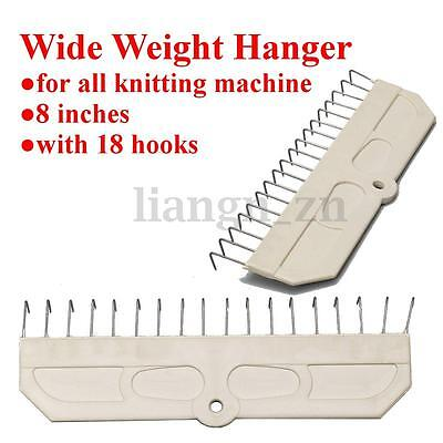 Wide Weight Hanger & 18crochets pour Brother All Knitting machine à tricoter