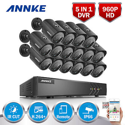 ANNKE 1080N 4in1 Security CCTV Camera DVR System Smart Search IR-CUT Outdoor TVI