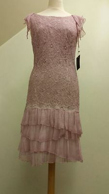 Eclipse Mother of the Bride Outfit Pink Stretch Lace Size 16 BRAND NEW RRP£400