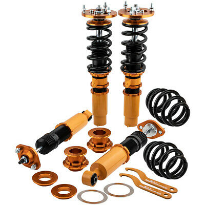 Coilover for BMW E46 Adjust Suspension Kit Front And Rear Top Mounts Suspension