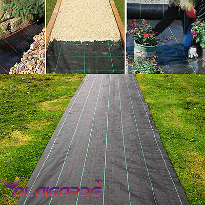 2X10M Woven Weed Control Ground Mulch Landscape Fabric Cover Heavy Duty Garden