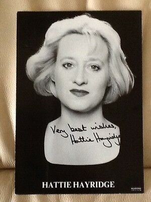 HATTIE HAYRIDGE Hand-Signed 8x6 Photo RED DWARF HOLLY Comedian/Actress AUTOGRAPH