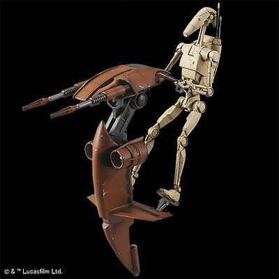 Bandai New 1/12 STAR WARS BATTLE DROID & STAP from Japan