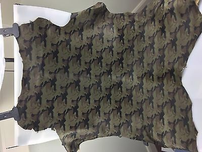 Camouflage print leather hide Nappa